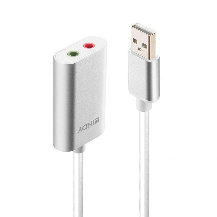 Imagine Placa de sunet USB-A la 2 x Jack 3.5mm, Lindy L42926