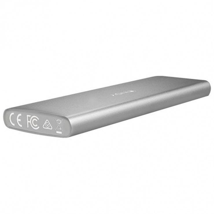 Imagine Rack extern pentru SSD M.2 la USB-C 3.1 Aluminiu, Lindy L43097-1