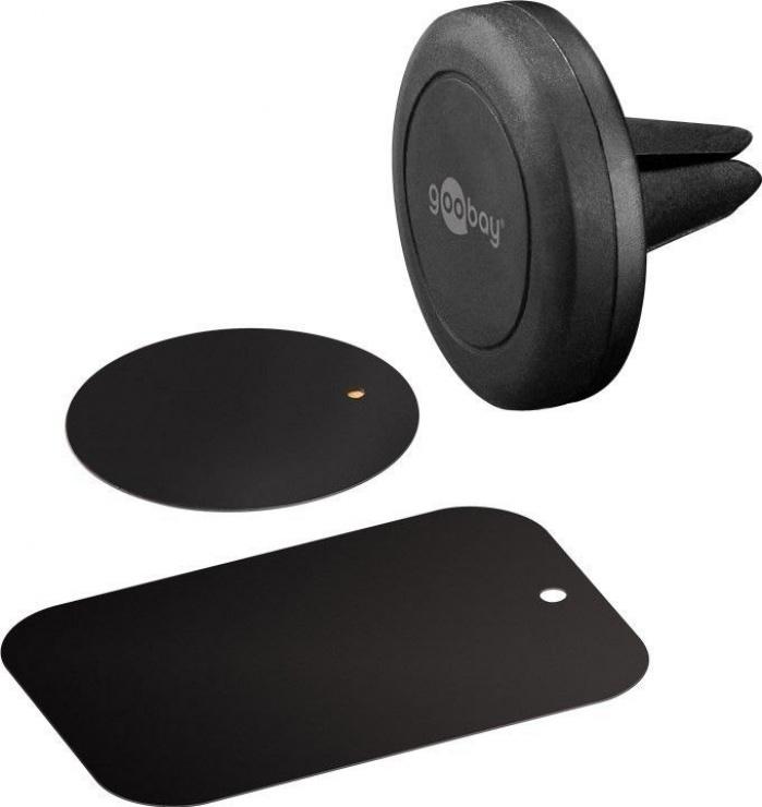 Imagine Suport magnetic auto pentru smartphone (45mm), Goobay 47145-1