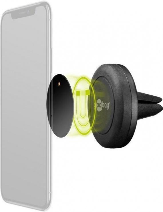 Imagine Suport magnetic auto pentru smartphone (45mm), Goobay 47145-3