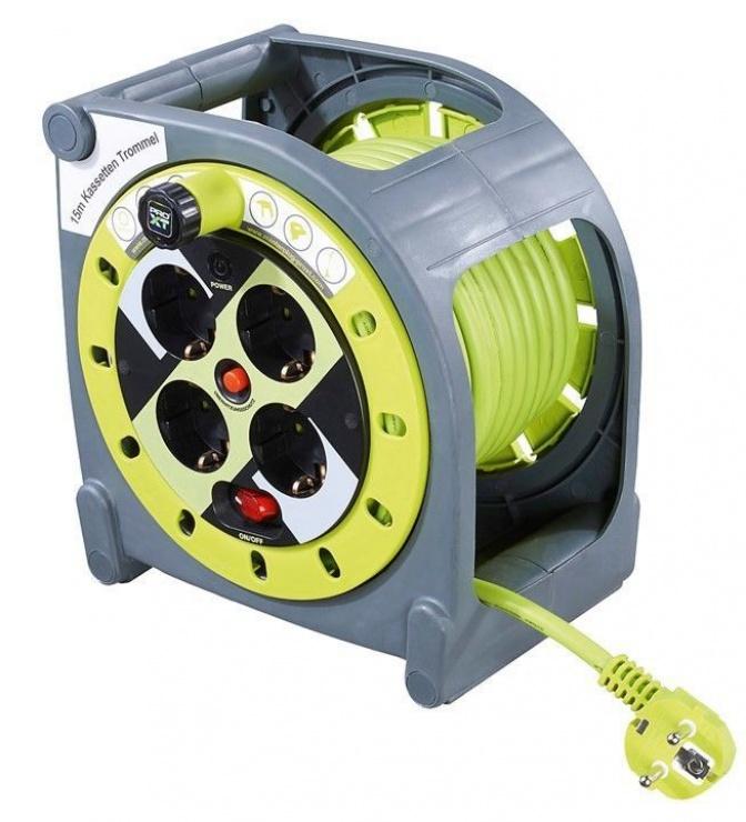 Imagine Cablu prelungitor 4 prize Switch ON/OFF 15m, Goobay 51267
