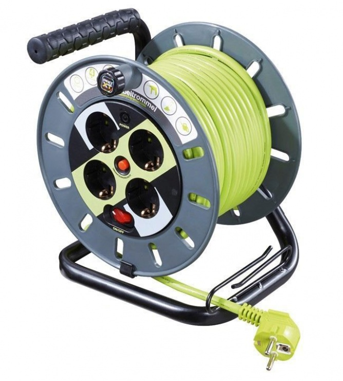 Imagine Cablu prelungitor 4 prize switch ON/OFF 25m, Goobay 51268