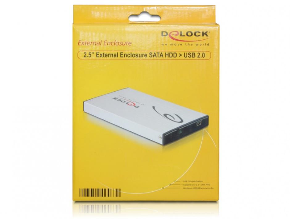 "Imagine Rack Extern HDD SATA 2.5"" la USB 2.0, Delock 42467-4"