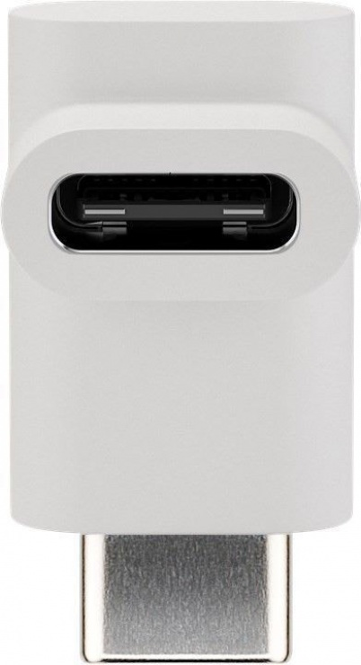 Imagine Adaptor USB-C 3.1 unghi 90 grade T-M Alb, Goobay 55557