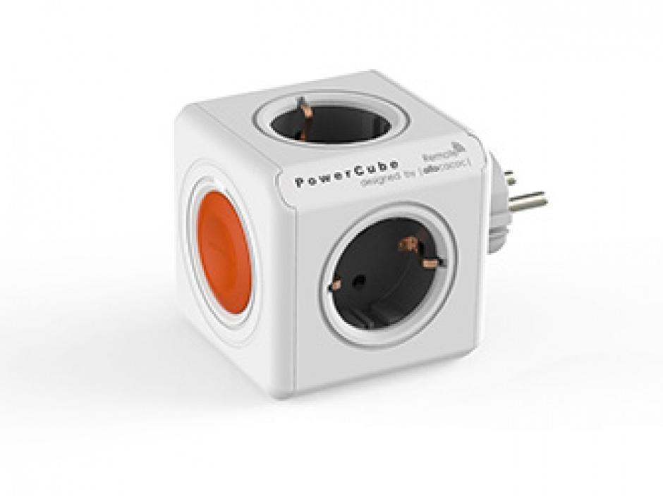 Imagine Prelungitor in forma de cub PowerCube Remote 4 prize cu Switch, Allocacoc