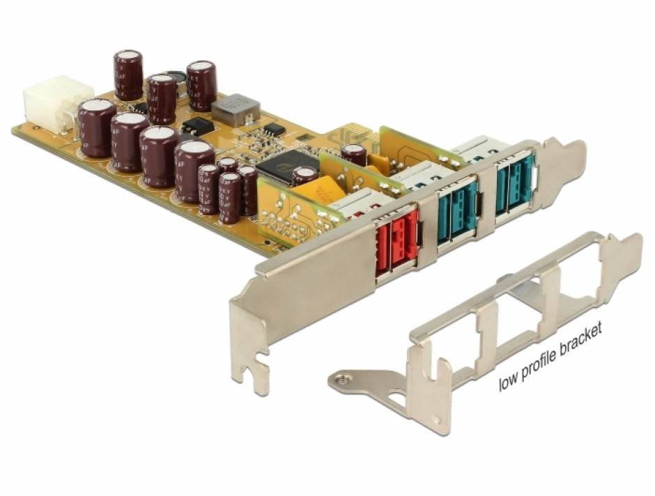 Imagine PCI Express PoweredUSB la 1 x USB 24V + 2 USB 12V, Delock 89655