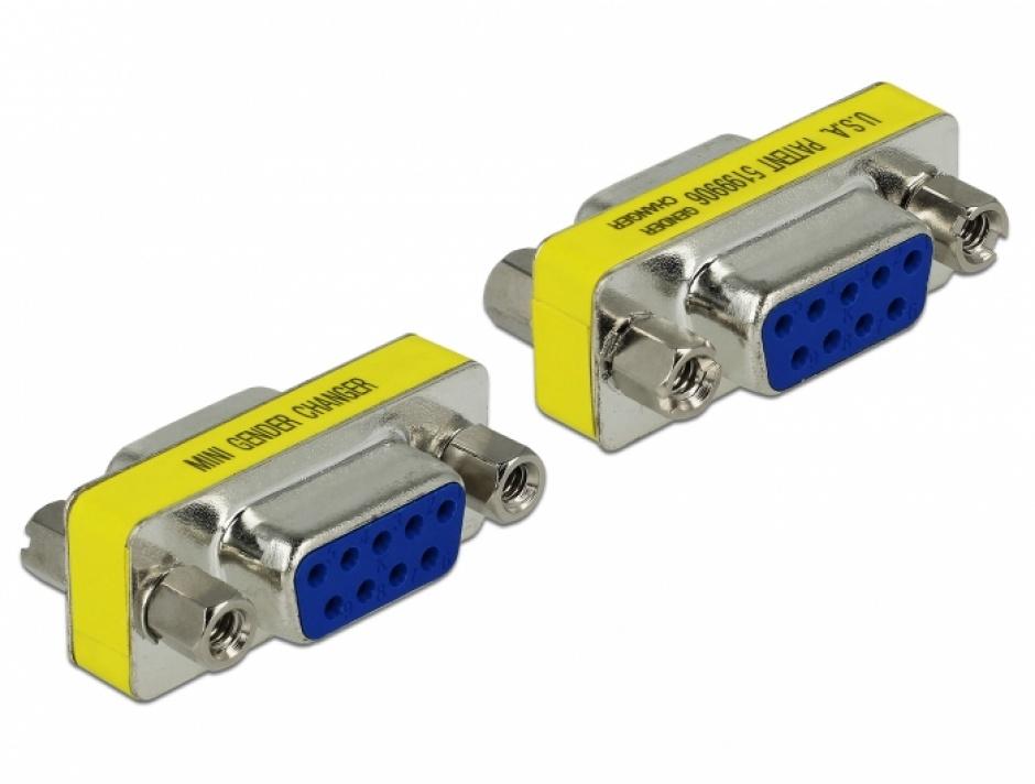 Imagine Adaptor Serial 9 pini M-M, Delock 65008