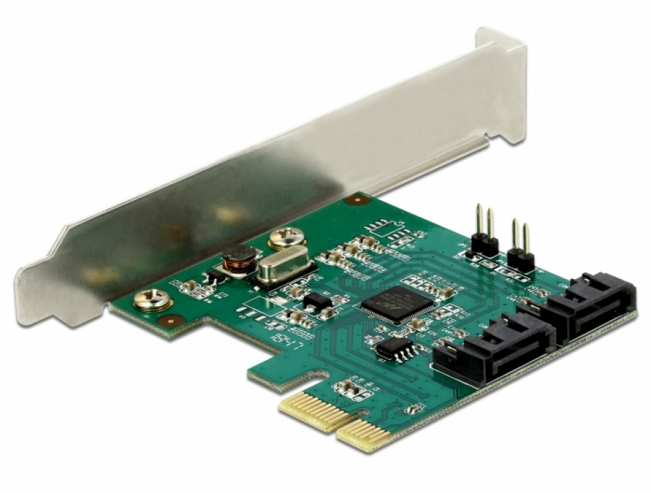 Imagine PCI Express cu 2 porturi SATA III cu RAID, Delock 90393-1