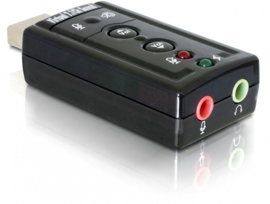 Imagine Placa de sunet USB, 7.1, Delock 61645-1