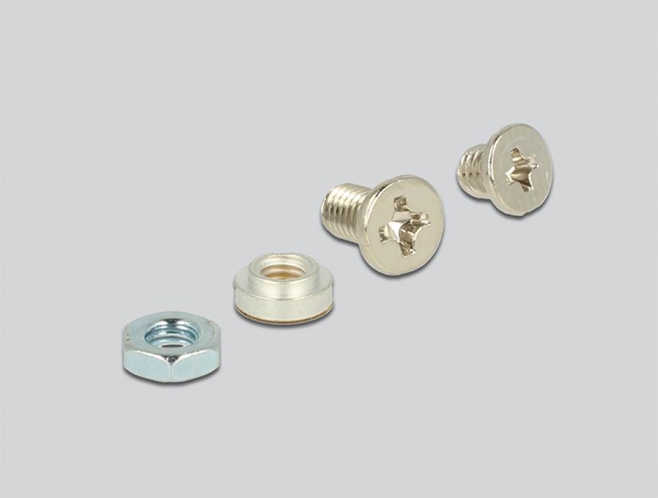 Imagine Convertor U.2 SFF-8639 NVMe / SATA 22 pini la 1 x M.2 Key M, Delock 62864-4