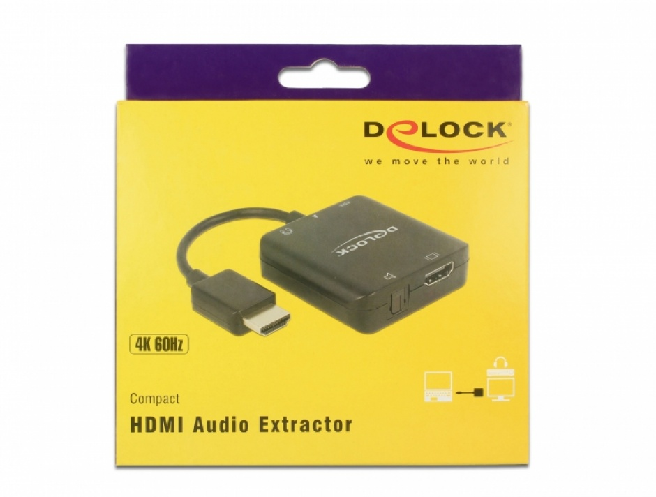 Imagine Extractor audio HDMI 4K 60 Hz compact, Delock 63276-5