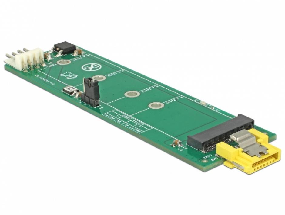 Imagine Adaptor SATA 8 pini la M.2 Key B slot, Delock 63917-3