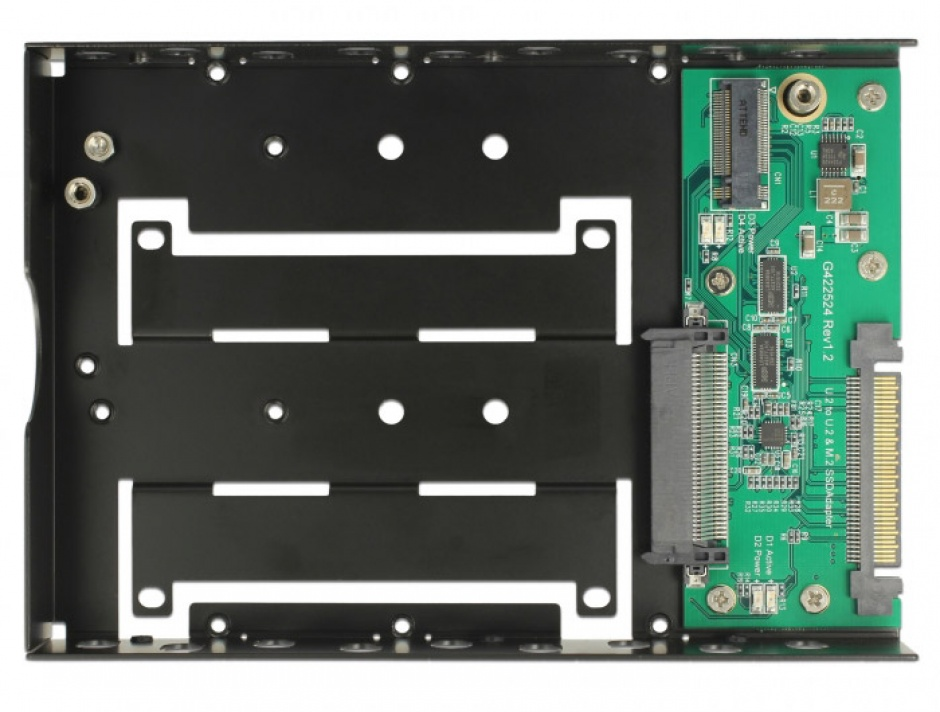 """Imagine Convertor U.2 SFF-8639 la M.2 NVMe Key M / U.2 SFF-8639 cu frame 3.5"""", Delock 63955-1"""