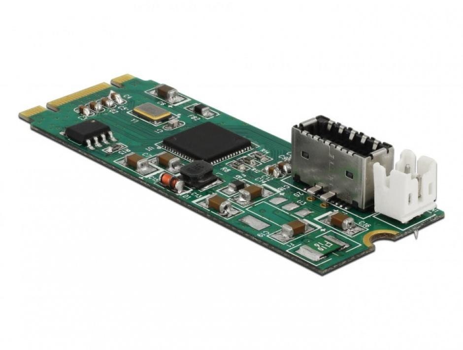 Imagine Convertor M.2 Key B+M la un port USB 3.1 Gen2 key A 20 pini, Delock 63998-1