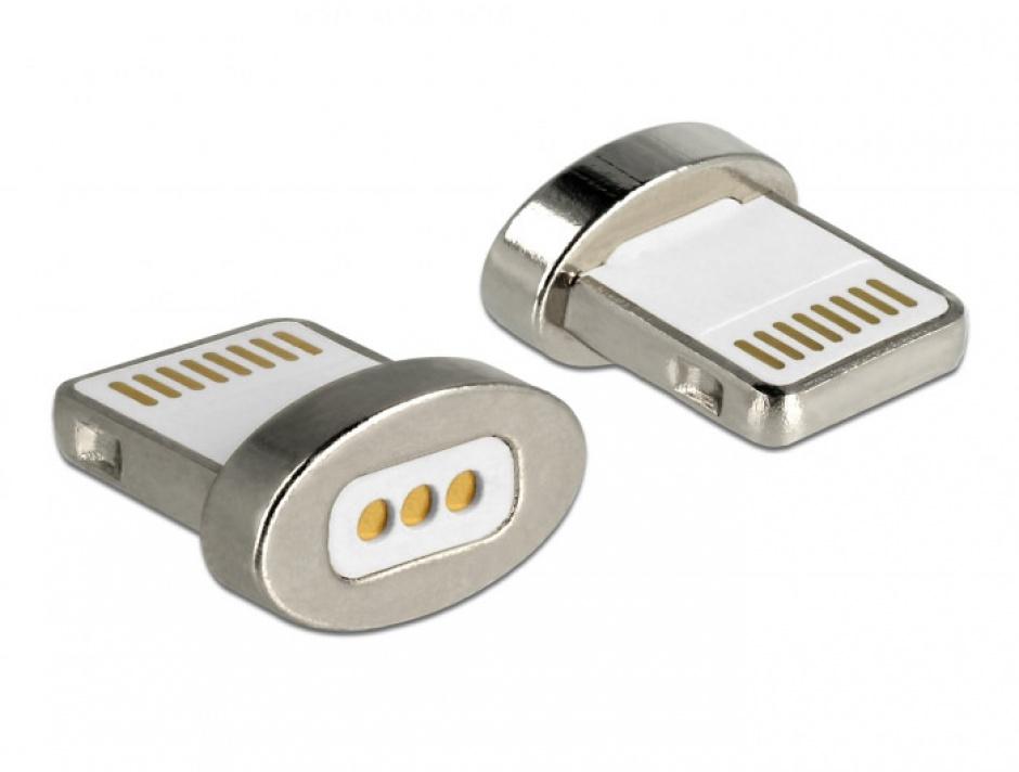 Imagine Conector magnetic pentru incarcare iPhone Lightning pentru 85705/85725, Delock 65928-1