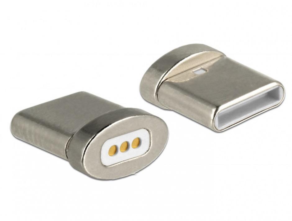 Imagine Conector magnetic pentru incarcare USB-C pentru 85705/85725, Delock 65930-1