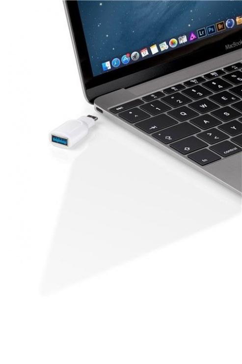 Imagine Adaptor USB-C 3.0 la USB-A T-M Alb, Goobay 66262