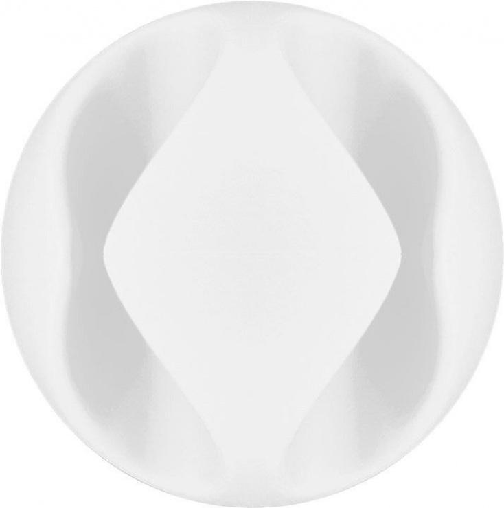 Imagine Set 5 bucati organizatoare cabluri albe, Goobay 70681-8