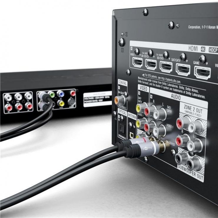 Imagine Cablu audio 2 x RCA la 2 x RCA CCS T-T 3m, Goobay 77394-3