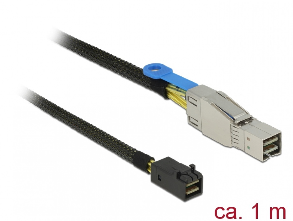 Imagine Cablu Mini SAS HD SFF-8644 la Mini SAS HD SFF-8643 1m, Delock 83618