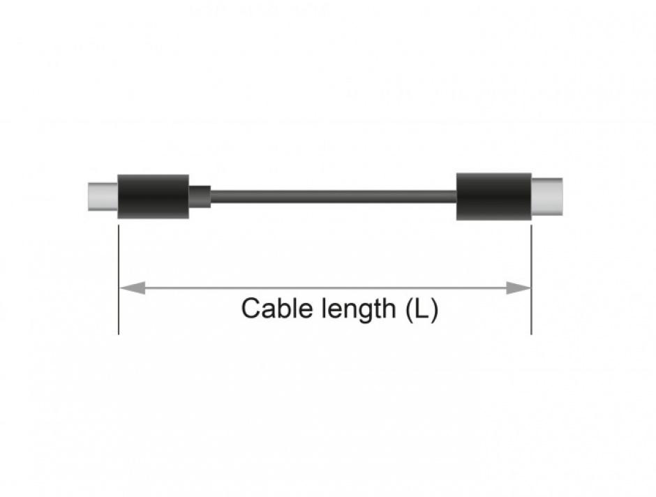 Imagine Cablu prelungitor jack stereo 3.5mm 5 pini T-M Negru 1m, Delock 85701-2