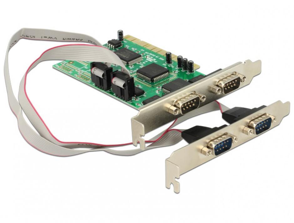 Imagine Placa PCI cu 4 x serial RS232, Delock 89046