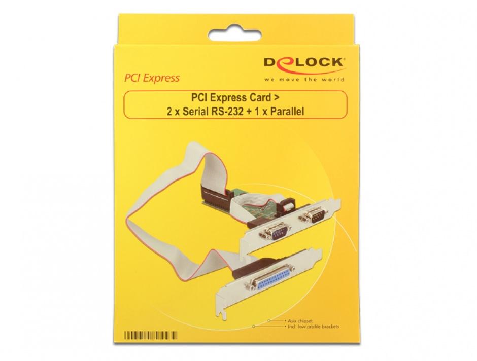 Imagine PCI Express la 2 x serial RS232 + 1 x paralel DB25, Delock 89556