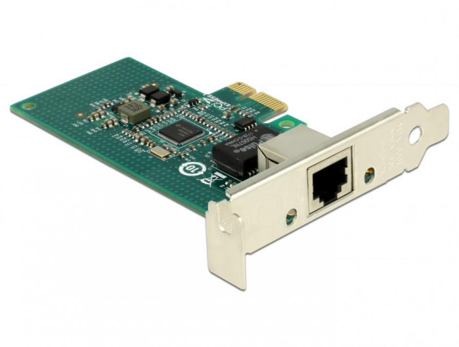 Imagine PCI Express la 1 x Gigabit LAN chipset Intel i210, Delock 89942-1
