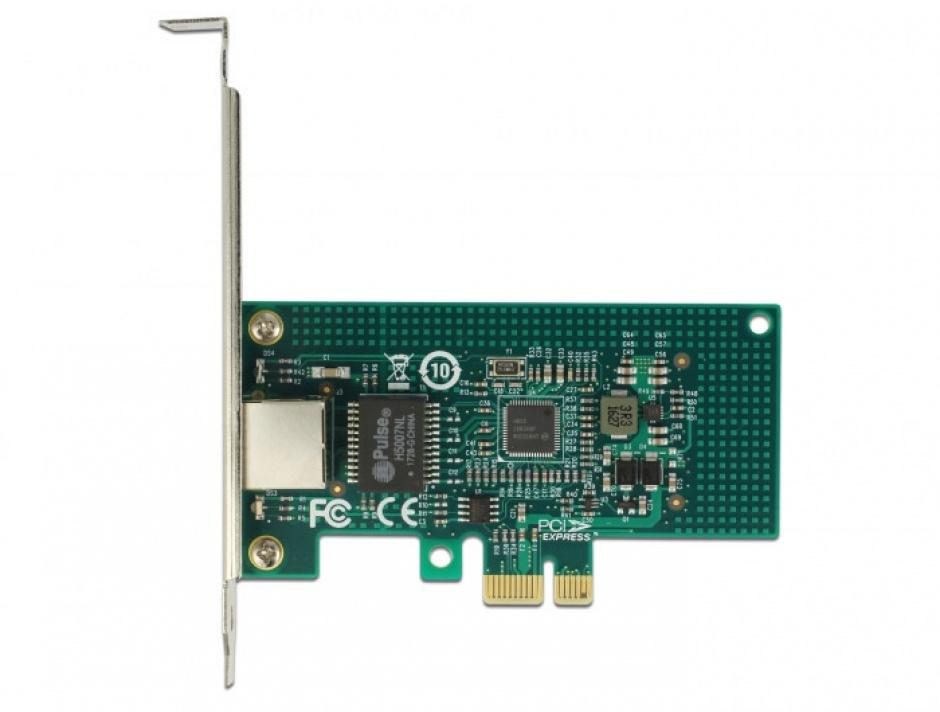Imagine PCI Express la 1 x Gigabit LAN chipset Intel i210, Delock 89942-3