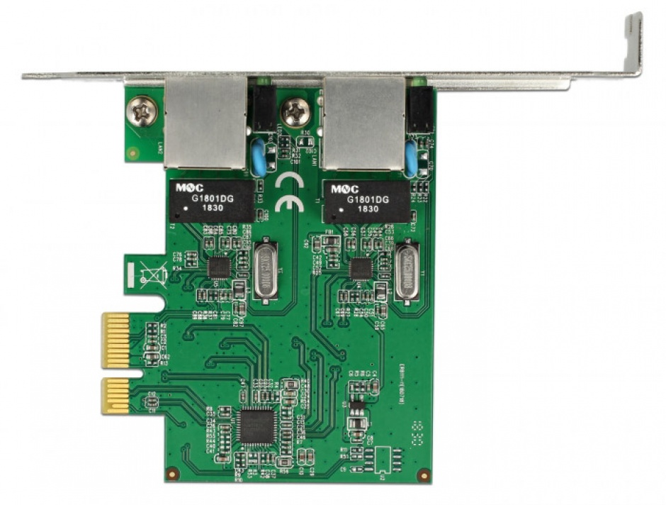 Imagine PCI Express cu 2 x Gigabit LAN, Delock 89999-2