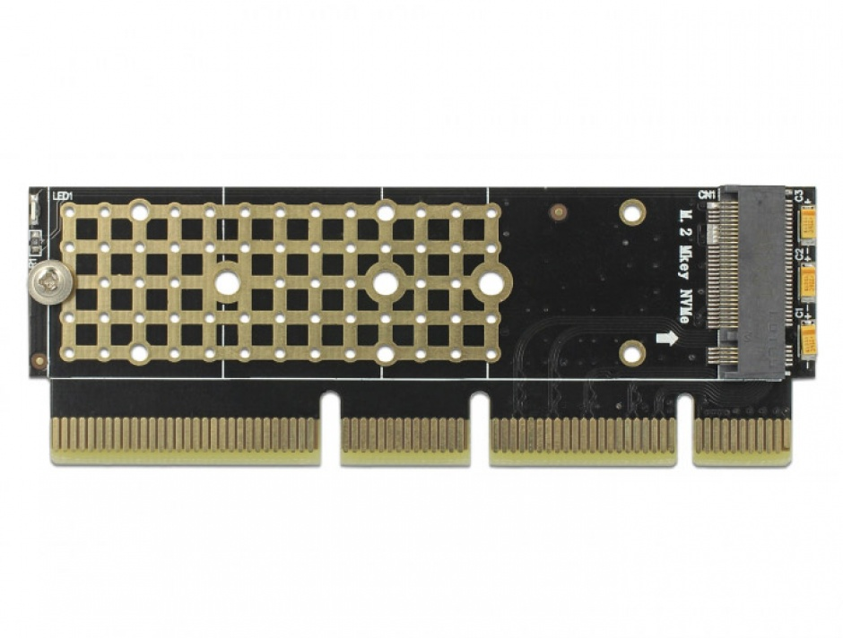 Imagine PCI Express x16 (x4 / x8) la un port NVMe M.2 Key M pentru Server 1U, Delock 90303-1
