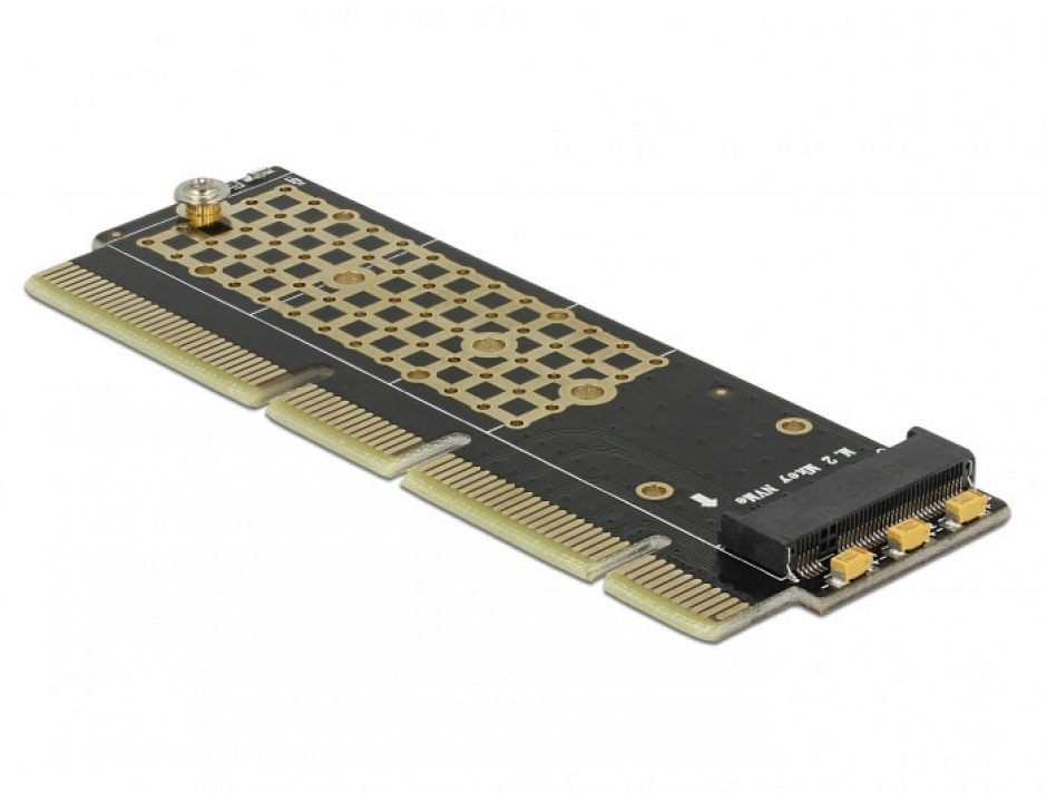 Imagine PCI Express x16 (x4 / x8) la un port NVMe M.2 Key M pentru Server 1U, Delock 90303-3