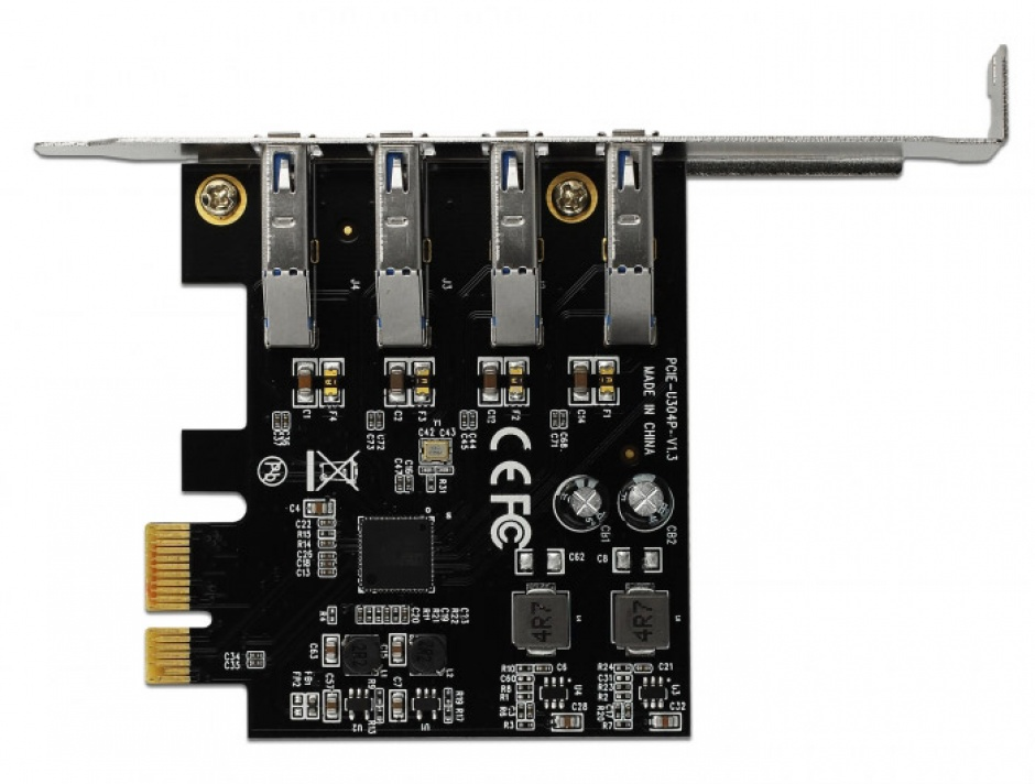 Imagine PCI Express cu 4 porturi USB 3.0 (pentru Mac), Delock 90304-2
