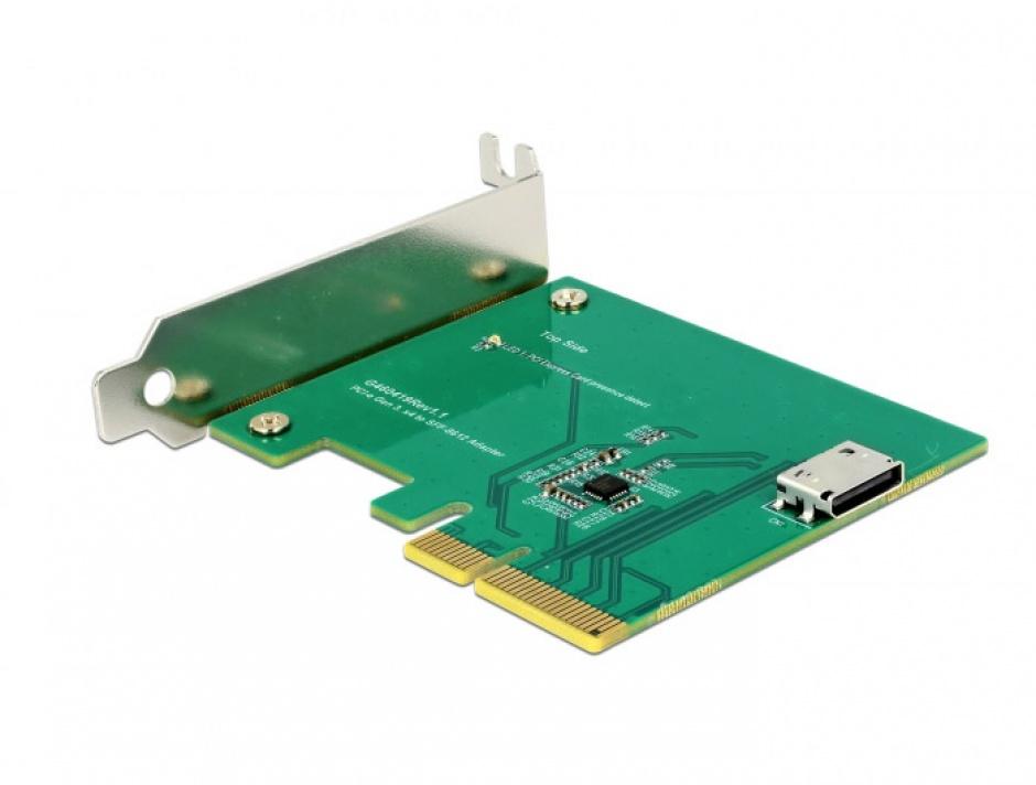 Imagine PCI Express la un port intern OCuLink SFF-8612 NVMe 1.2, Delock 90307-3