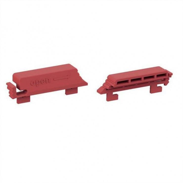Imagine Set 12 bucati clips de blocare pentru PDU C13 rosu, Bachmann 940.103