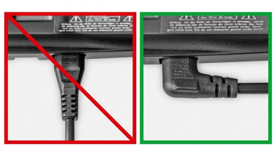 Imagine Cablu alimentare Euro la IEC C7 (casetofon) 2 pini 5m in unghi, Goobay 97355-1