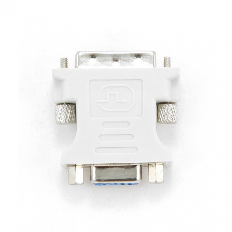 Imagine Adaptor DVI-I Dual Link 24+5 pini la VGA T-M, Gembird A-DVI-VGA-2