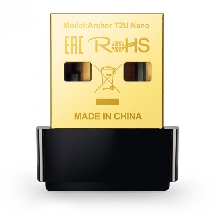 Imagine Adaptor USB Wireless Nano AC600, TP-LINK Archer T2U Nano