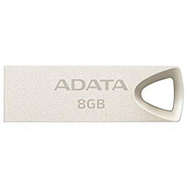 Imagine Stick USB 2.0 8GB aliaj zinc, rezistent la apa/praf/socuri Gold, A-DATA