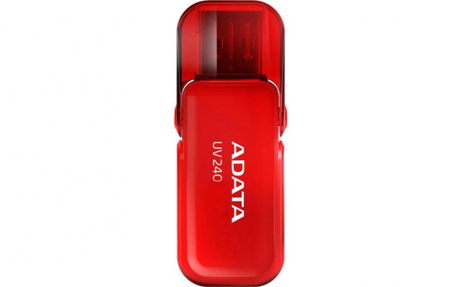 Imagine Stick USB 2.0 cu capac pliabil 8GB UV240 Rosu, ADATA