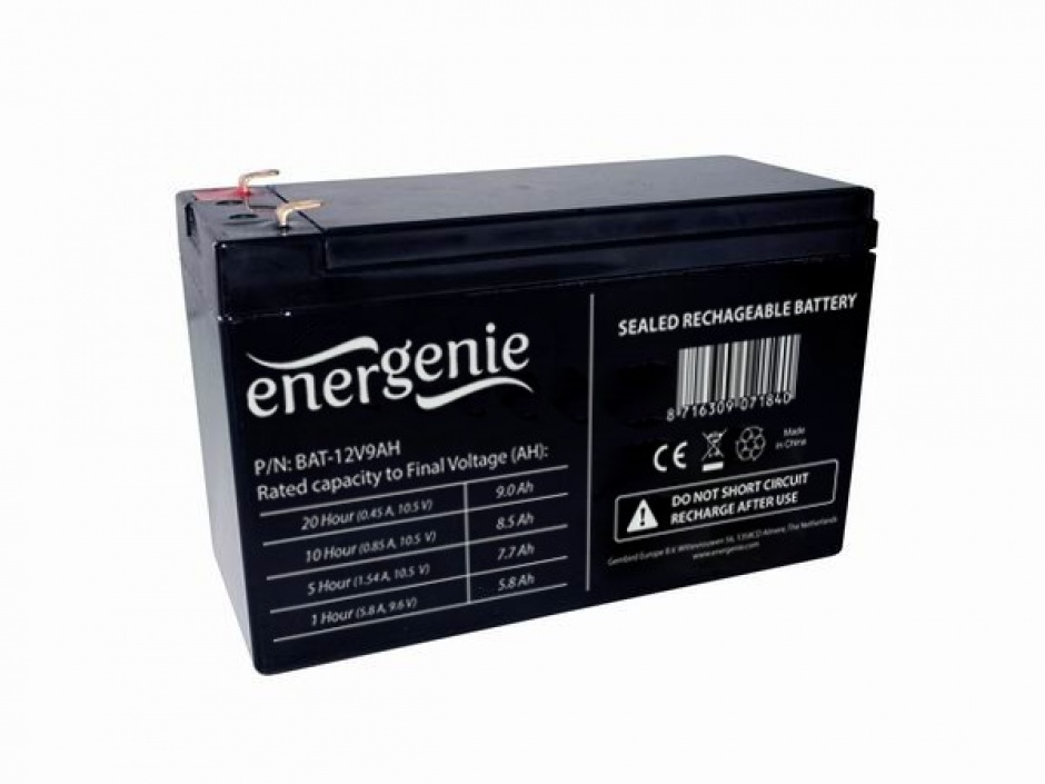 Imagine Acumulator UPS 12V / 9A, Gembird BAT-12V9AH