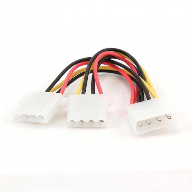 Imagine Cablu alimentare Molex la 2 x Molex T-M, Gembird CC-PSU-1