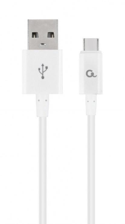 Imagine Cablu USB 2.0 la USB-C T-T 1m Alb, Gembird CC-USB2P-AMCM-1M-W