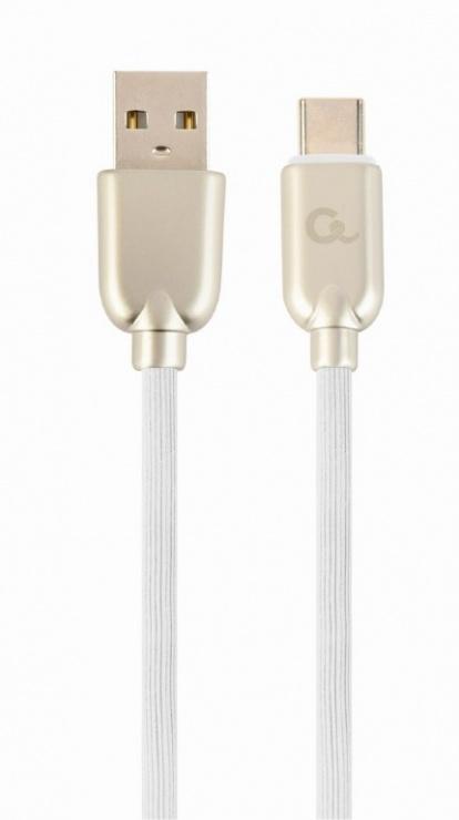 Imagine Cablu USB 2.0 la USB-C Premium 1m Alb, Gembird CC-USB2R-AMCM-1M-W