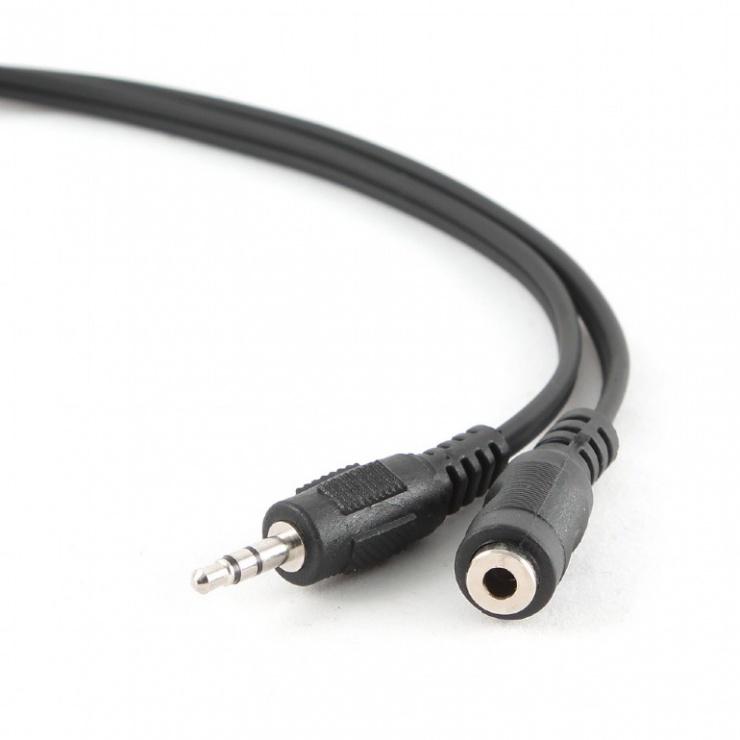 Imagine Cablu prelungitor jack stereo 3.5mm M-T 1.5m Negru, Gembird CCA-423