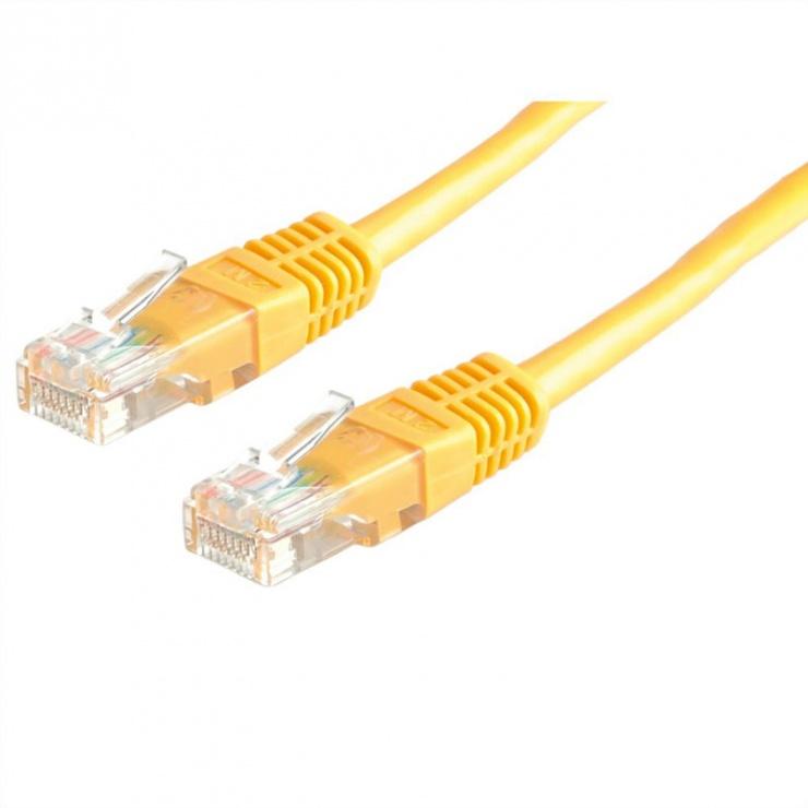 Imagine Cablu de retea RJ45 MYCON UTP Cat.6 0.3m Galben, CON0942