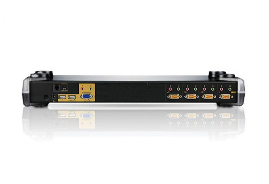 Imagine Distribuitor KVM PS/2-USB VGA/Audio 4 porturi, Aten CS1754-1