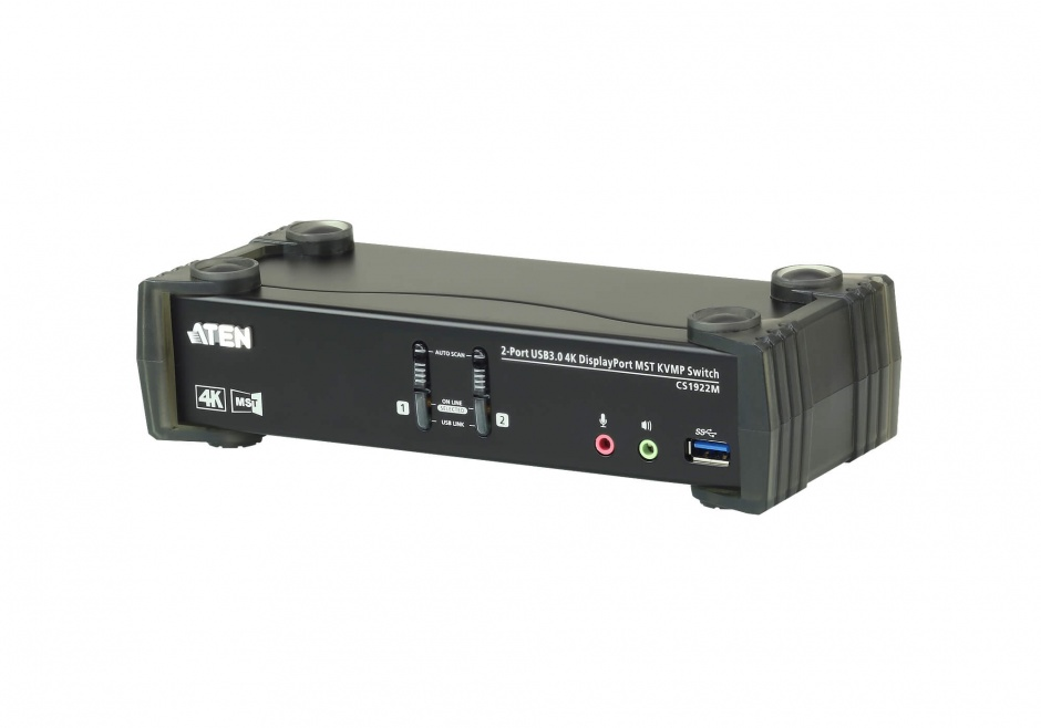 Imagine KVM Switch DisplayPort MST 2 porturi USB 3.0 4K, ATEN CS1922M