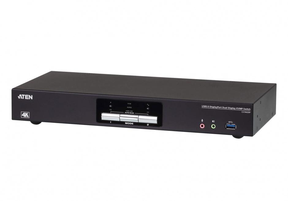 Imagine Switch KVM Displayport 2 porturi 4K + USB 3.0, ATEN CS1942DP