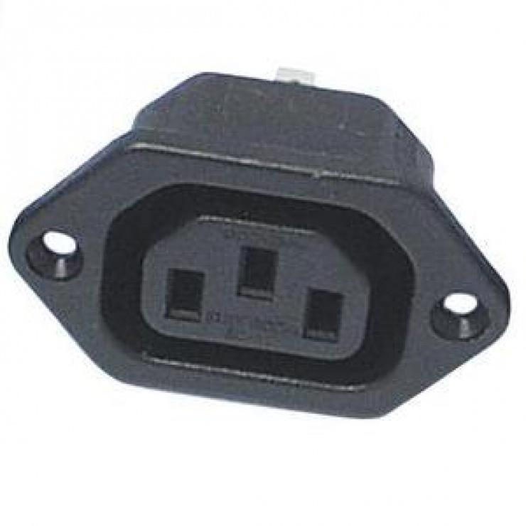 Imagine Conector de alimentare pentru lipit 230V/mama IEC C13